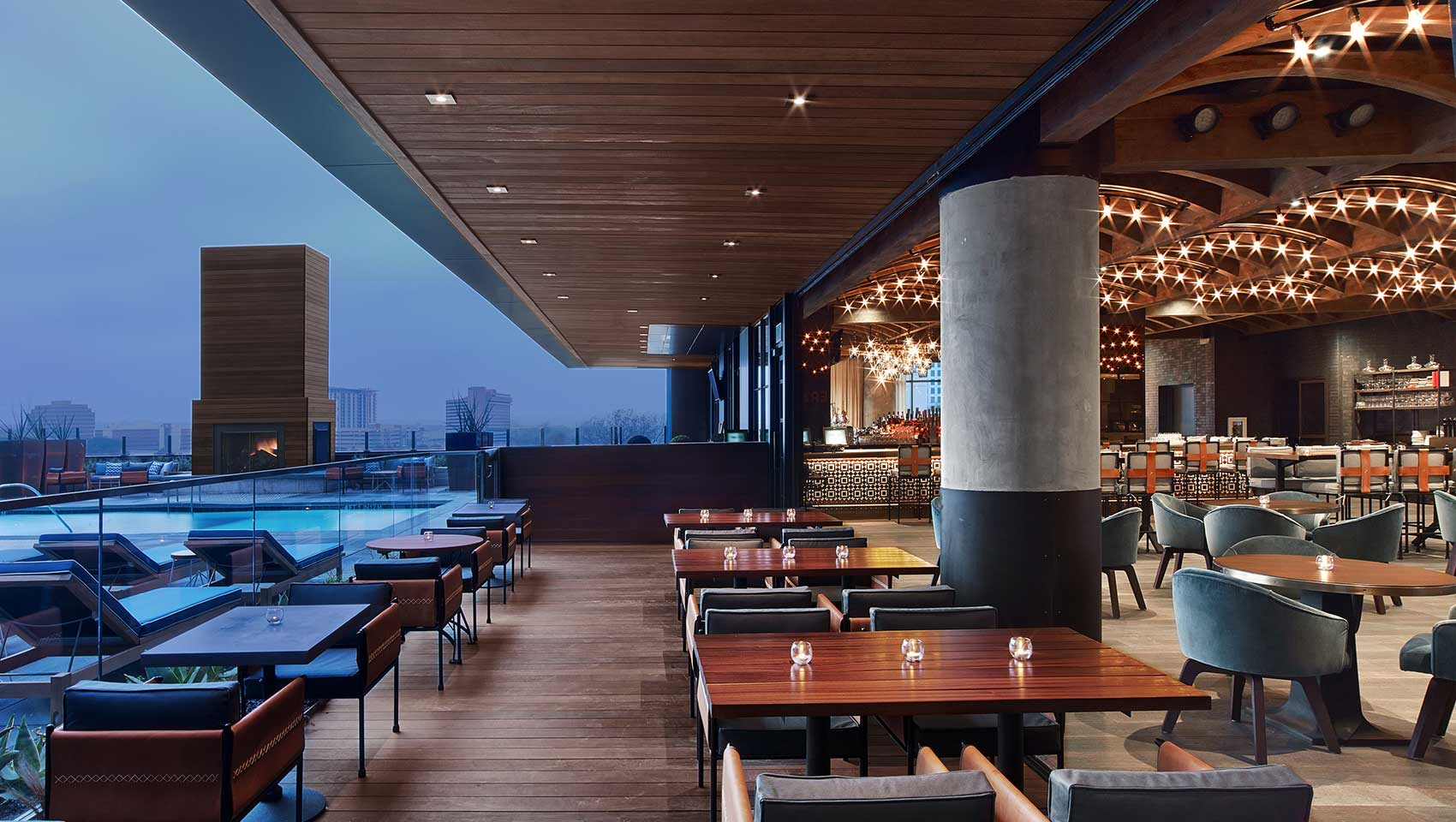The Deck Downtown Austin Bars Kimpton Hotel Van Zandt