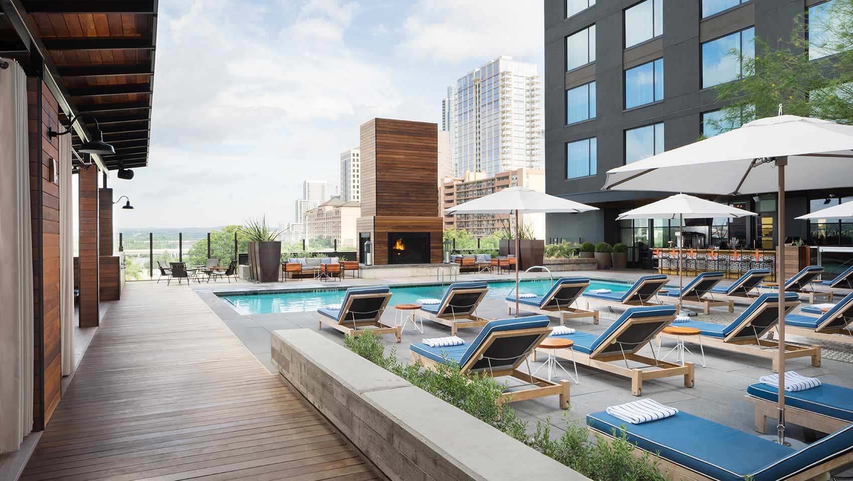 Best hotel pool in Austin at Kimpton Hotel Van Zandt