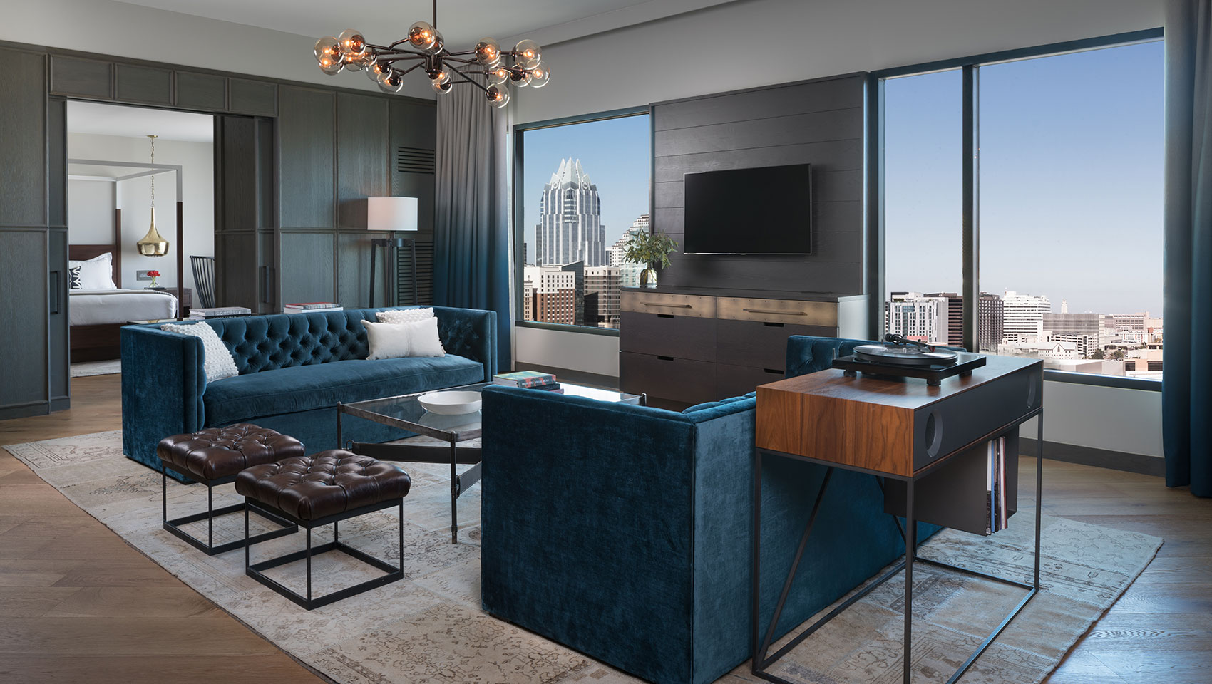 A downtown view in Kimpton's Austin hotel suites.