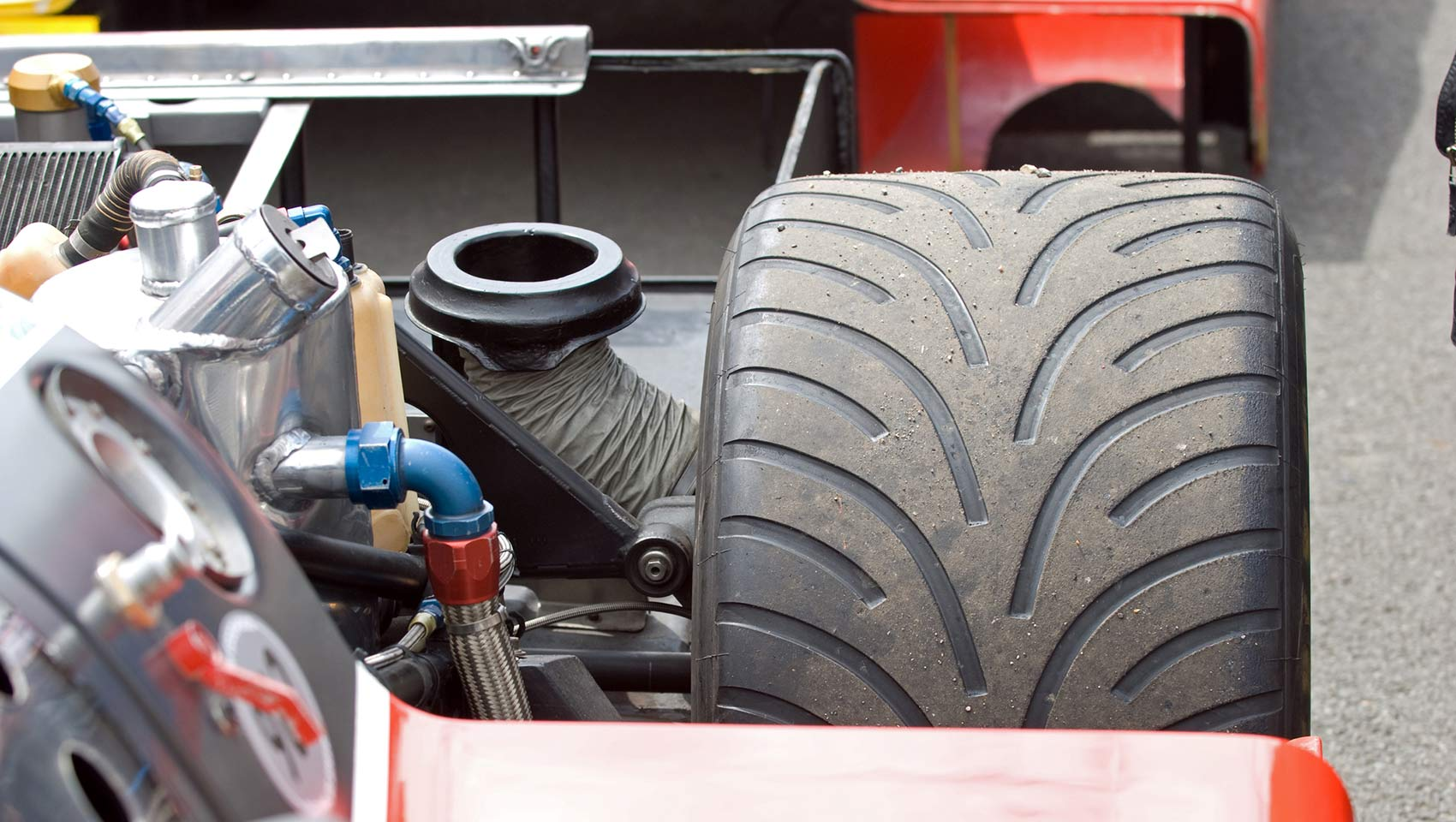 Race car tire formula one racing